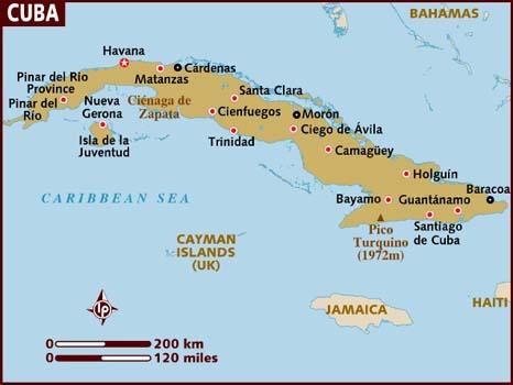 Cuba Kaart Plattegrond Van Cuba Landkaart Map Of Cuba Mapa